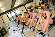 Caversham, Great Britain,  Ergo session in the gym, GB Rowing media day at the Redgrave Pinsent Rowing Lake. GB Rowing Training centre. Tue. 29.04.2008  [Mandatory Credit. Peter Spurrier/Intersport Images] Rowing course: GB Rowing Training Complex, Redgrave Pinsent Lake, Caversham, Reading