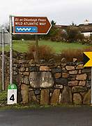 10/01/2018 Sign   in Cill Chiarain Co. Galway which has been depleted of population .<br />   .Photo:Andrew Downes, XPOSURE