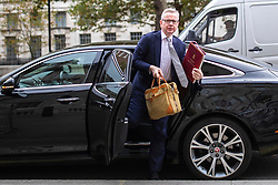 © Licensed to London News Pictures. 03/09/2019. London, UK. Chancellor of the Duchy of Lancaster Michael Gove arrives at the Cabinet Office. MPs return from recess today and may vote on legislation to block a no deal exit from the European Union. Photo credit: Rob Pinney/LNP