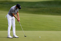 June 21, 2018 - Cromwell, Connecticut, United States - CROMWELL, CT-JUNE 21: Jordan Spieth putts the 15th green during the first round of the Travelers Championship on June 21, 2018 at TPC River Highlands in Cromwell, Connecticut. (Credit Image: © Debby Wong via ZUMA Wire)