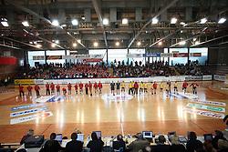 Handball match of 1/4 finals of Women handball Cup Winners cup between RK Krim Mercator, Ljubljana and C.S. Rulmentul-Urban Brasov, Romania, in Arena Kodeljevo, Ljubljana, Slovenia, on 8th of March 2008. Rulmentul-Urban won match against RK Krim Mercator with 29:27.