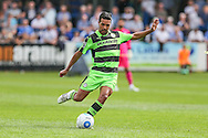 Forest Green Rovers Fabien Robert (26) passes the ball during the Vanarama National League match between Dover Athletic and Forest Green Rovers at Crabble Athletic Ground, Dover, United Kingdom on 10 September 2016. Photo by Shane Healey.