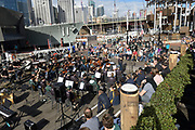 Performers at the National Maritime Museum, Sydney, part of the Australian Intermational Music Festival 2019