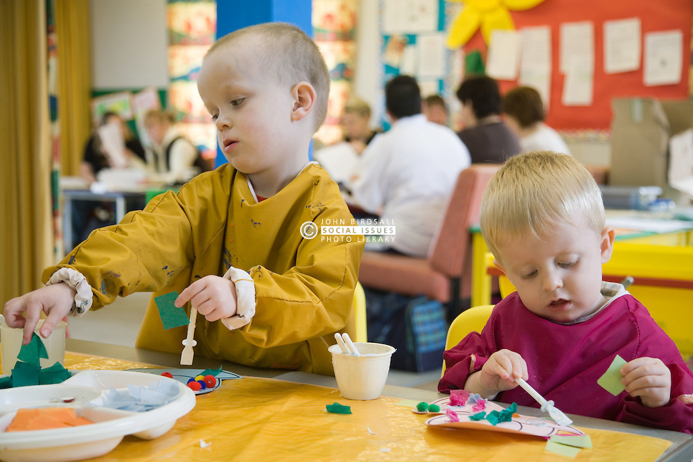 Children in creche at adult education centre,