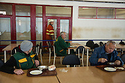 Arcelor Mittal. Omarska Mine near Prijedor. In the canteen.<br /> <br /> Matt Lutton / Boreal Collective for the Financial Times.