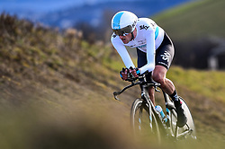 March 7, 2018 - Chatel-Guyon, FRANCE - Dutch Wout Poels of Team Sky pictured in action during the fourth stage of the 76th edition of Paris-Nice cycling race, a 18,4 km individual time trial from La Fouillouse to Saint-Etienne, France, Wednesday 07 March 2018. The race starts on the 4th and ends on the 11th of March. BELGA PHOTO DAVID STOCKMAN (Credit Image: © David Stockman/Belga via ZUMA Press)