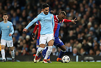 Football - 2017 / 2018 UEFA Champions League - Round of Sixteen, Second Leg: Manchester City (4) vs. FC Basel (0)<br /> <br /> Geoffrey Serey Die of FC Basel and Ilkay Gundogan of Manchester City at The Etihad.<br /> <br /> COLORSPORT