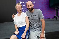 PORTOROZ, SLOVENIA - SEPTEMBER 19:  Vid Kavticnik during the WTA 250 Zavarovalnica Sava Portoroz at SRC Marina, on September 19, 2021 in Portoroz / Portorose, Slovenia. Photo by Vid Ponikvar / Sportida