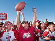 Feb 2, 2009 -- PHOENIX, AZ: People cheer for the Arizona Cardinals as they arrive back in Phoenix. More than 4,000 people came to Sky Harbor Airport in Phoenix to welcome home the Arizona Cardinals, the city's NFL team. The Cardinals lost the Superbowl to the Pittsburgh Steelers 27 - 23.   Photo By Jack Kurtz / ZUMA Press