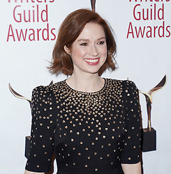 Ellie Kemper arrivals at the Writers Guild Awards 2019 in New York City, USA on February 17, 2019.