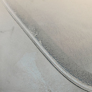 A parked car covered in pollution particles.<br /> Mongolia