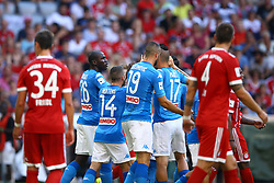 August 2, 2017 - Munich, Germany - Kalidou Koulibaly of Napoli celebration with teammates after the goal of 1-0 scored during the Audi Cup 2017 match between SSC Napoli v FC Bayern Muenchen at Allianz Arena on August 2, 2017 in Munich, Germany. (Credit Image: © Matteo Ciambelli/NurPhoto via ZUMA Press)