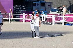 Guery Jerome, BEL, Weinberg Peter, GER Chef d'Equipe<br /> Olympic Games Tokyo 2021<br /> © Hippo Foto - Dirk Caremans<br /> 04/08/2021