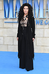 Cher attending the premiere of Mamma Mia! Here We Go Again held at the Eventim Hammersmith Apollo, London. Photo credit should read: Doug Peters/EMPICS