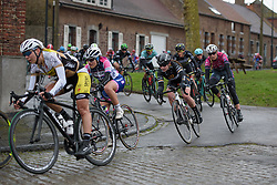 Grace Garner (Wiggle High5) at the 112.8 km Le Samyn des Dames on March 1st 2017, from Quaregnon to Dour, Belgium. (Photo by Sean Robinson/Velofocus)