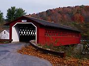 """Silk Road Covered Bridge, """"Henry Bridge,"""" built around 1840 a.d., North Bennington, Vermont."""