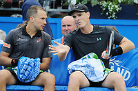 Tennis - 2017 Aegon Championships [Queen's Club Championship] - Day Seven, Sunday<br /> <br /> Men's Doubles, Final<br /> Jamie Murray [GBR] and Bruno Soares [Bra ]vs. Julien Benneteau [Fra] ans Edouard Roger - Vasselin [Fra]<br /> <br /> Jamie Murray [GBR] and Bruno Soares on Centre Court <br /> <br /> COLORSPORT/ANDREW COWIE