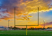 Sunset Over Michael A Monsoor Memorial Stadium at Garden Grove High School
