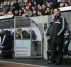 Fulham Manager, Rene Meulensteen - Photo mandatory by-line: Alex James/JMP - Tel: Mobile: 07966 386802 28/01/2014 - SPORT - FOOTBALL - Liberty Stadium - Swansea - Swansea City v Fulham - Barclays Premier League