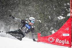 Eri Yanetani (JPN) competes during Qualification Run of Men's Parallel Giant Slalom at FIS Snowboard World Cup Rogla 2016, on January 23, 2016 in Course Jasa, Rogla, Slovenia. Photo by Ziga Zupan / Sportida