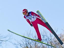 05.02.2011, Heini Klopfer Skiflugschanze, Oberstdorf, GER, FIS World Cup, Ski Jumping, Probedurchgang, im Bild Olli Muotka (FIN) , during ski jump at the ski jumping world cup Trail round in Oberstdorf, Germany on 05/02/2011, EXPA Pictures © 2011, PhotoCredit: EXPA/ P. Rinderer