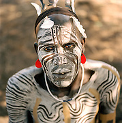 Portrait of a Mursi tribesman, Ethiopia