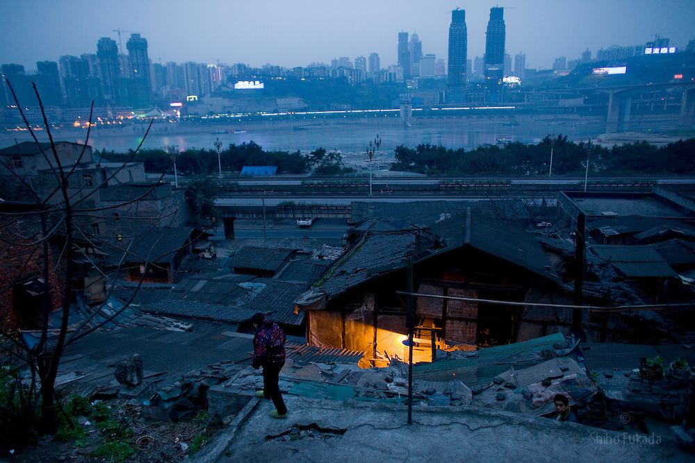 Old town is seen in Chongqing, China, March 4, 2009.