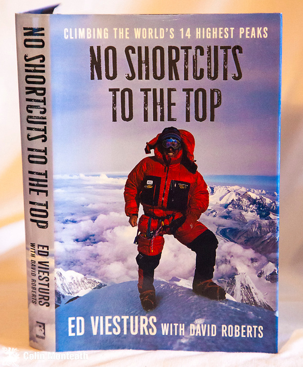 NO SHORTCUTS TO THE TOP,  climbing the world's 14 highest peaks, Ed Viesturs with David Roberts, Broadway Books, New York, 2006, 1st US edn., B&W plates, map. VG+ hardback - Ed V's story of becoming the first American t climb all 14 x 800 m peaks $NZ45