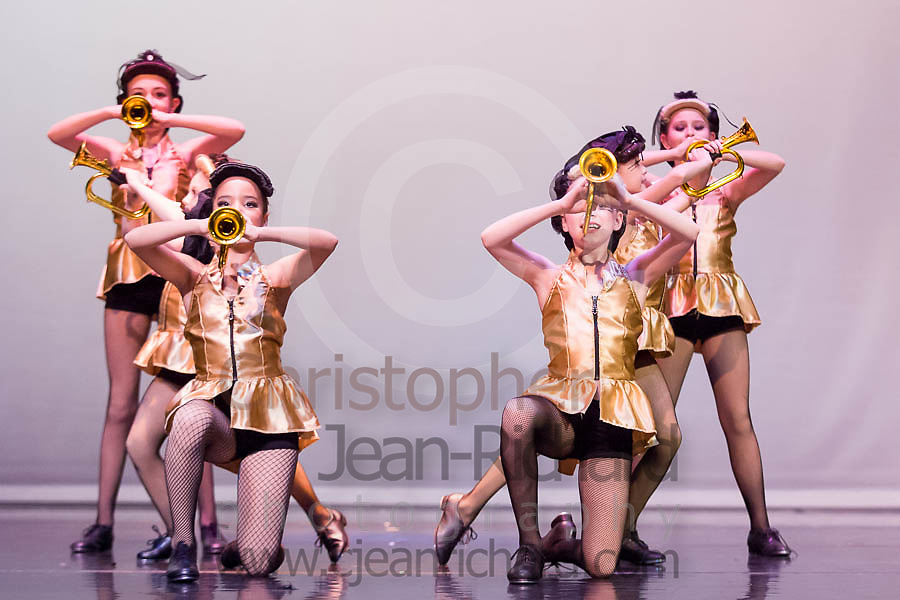 Students of the Payne Academy of Performing Arts in the dress rehearsal of Jazz and Tap choreography...Woodlands College Park High School Theater.The Woodlands, Texas
