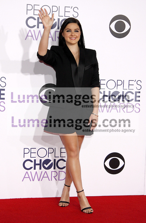 Ariel Winter at the 41st Annual People's Choice Awards held at the Nokia L.A. Live Theatre in Los Angeles on January 7, 2015. Credit: Lumeimages.com