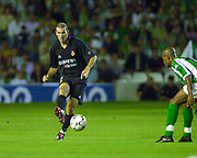 Photo Peter Spurrier<br /> 14/09/2002<br /> 2002 Real Betis vs Real Madrid  - Spanish Liga 1<br /> Real Madrid's - Zinedine Yazid Zidane,