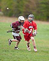 Lakes Region Lacrosse versus Generals U13 boys April 22, 2012.