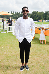 TINIE TEMPAH at the Veuve Clicquot Gold Cup Final at Cowdray Park Polo Club, Midhurst, West Sussex on 20th July 2014.