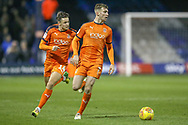 Luton Town defender Jack Stacey (7) on the ball during the EFL Sky Bet League 1 match between Luton Town and Bradford City at Kenilworth Road, Luton, England on 27 November 2018.