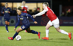 February 7, 2019 - London, England, United Kingdom - Lauren James of Manchester United Women (Left).during FA Continental Tyres Cup Semi-Final match between Arsenal and Manchester United Women FC at Boredom Wood on 7 February 2019 in Borehamwood, England, UK. (Credit Image: © Action Foto Sport/NurPhoto via ZUMA Press)