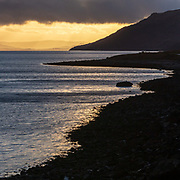 Last light, Kingairloch I, Highland, Scotland.