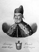 Portrait of Lorenzo Priuli 1556. The Venetian Doge.