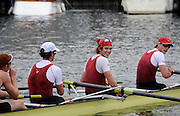 Henley, Great Britain.  Henley Royal Regatta. Harvard University, M4+, USA, return to the dock, after winning the Final of, the Prince Albert Challenge Cup. River Thames,  Henley Reach.  Royal Regatta. River Thames Henley Reach. Sunday  11:40:12  03/07/2011  [Mandatory Credit/Intersport Images] . HRR