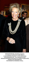 PRINCESS MICHAEL OF KENT at a dinner in London on 1st December 2003.<br /> PPA 111