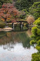 Rikugien Garden - the name of this garden means the six traditional elements essential to great poetry. A wonderful, romantic sentiment in itself for a garden stroll but especially apt because the concept has been followed through to the design and layout of this garden which depicts 88 scenes from a classic Japanese poem. It does so by use of the pond, stone islands, teahouses and bridges