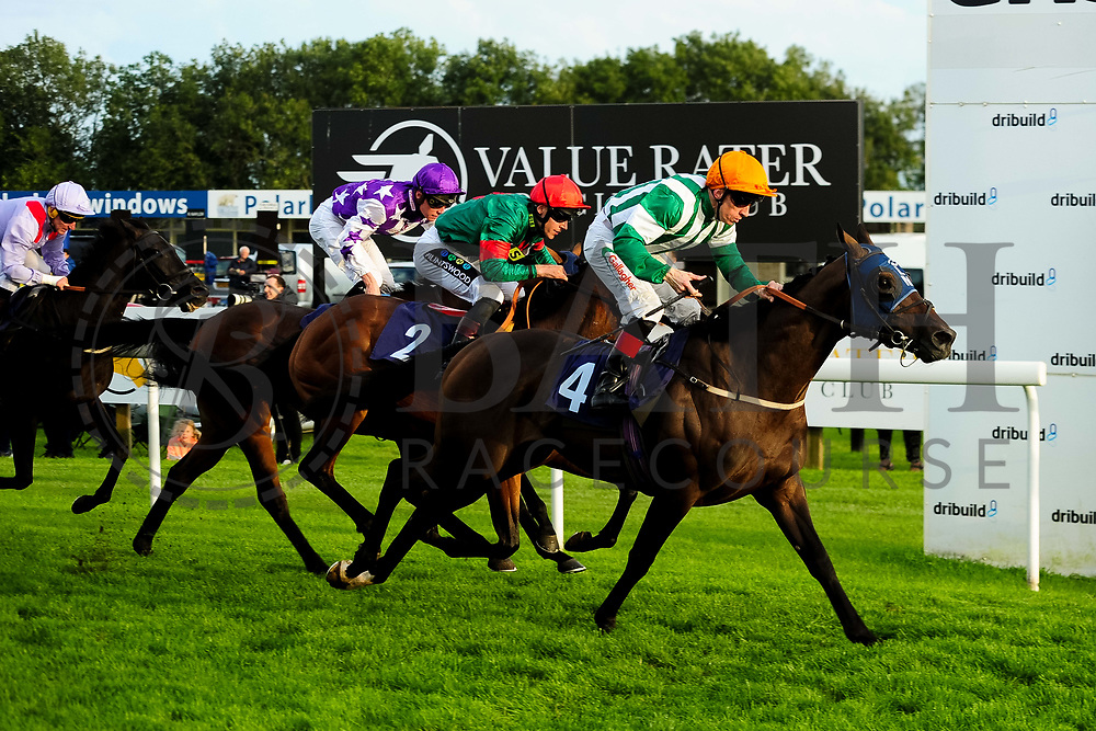 Tamok ridden by Jason Watson and trained by Michael Bell in the Kingstone Press Wild Berry Handicap (Class 6)  race. Queen's Soldier ridden by William Carver and trained by Andrew Balding in the Kingstone Press Wild Berry Handicap (Class 6)  race. Ragstone Cowboy ridden by Shane Kelly and trained by Gary Moore in the Kingstone Press Wild Berry Handicap (Class 6)  race.  - Ryan Hiscott/JMP - 17/08/2019 - PR - Bath Racecourse - Bath, England - Race Meeting at Bath Racecourse