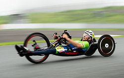 ASAKA, JAPAN - SEPTEMBER 1: Anej Doplihar of Team Slovenia competes during the Men's H3 Road Cycling Competition on Day 8 of the Tokyo 2020 Paralympic Games at Fuji International Speedway, Japan.  Photo by Vid Ponikvar / Sportida
