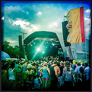 Coetus (Spain) play the main stage. WOMAD 2014, festival of world music and dance, Charlton Park, Wiltshire. UK.