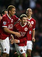 Ole Gunnar Solskjaer Celebrates Scoring Winning goall<br />Manchester United 2006/07<br />Manchester United V Aston Villa (2-1) 07/01/07<br />The FA Cup 3rd Round <br />Photo Robin Parker Fotosports International