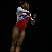 Simone Biles, Spring, Texas, in action during the Vault while winning the All-Round title during the Senior Women Competition at The 2013 P&G Gymnastics Championships, USA Gymnastics' National Championships at the XL, Centre, Hartford, Connecticut, USA. 17th August 2013. Photo Tim Clayton