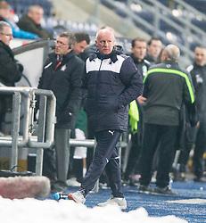 Falkirk's manager Peter Houston. <br /> Falkirk 1 v 1 Hibernian, Scottish Championship game played 17/1/2015 at The Falkirk Stadium.