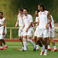 Photo: Chris Ratcliffe.<br />England Training Session. FIFA World Cup 2006. 29/06/2006.<br />John Terry laughing in training.