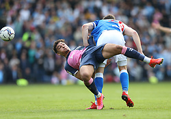 Coventry City's Tyler Walker (left) Blackburn Rovers' Bradley Dack battle for the ball during the Sky Bet Championship match at Ewood Park, Blackburn. Picture date: Saturday October 16, 2021.