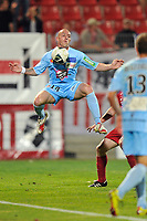 FOOTBALL - FRENCH CHAMPIONSHIP 2010/2011 - L2 - DIJON FCO v AC AJACCIO - 25/04/2011 - PHOTO GUILLAUME RAMON / DPPI -<br /> JEAN-FRANCOIS RIVIERE (AJACCIO)