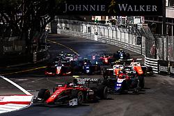 May 25, 2018 - Montecarlo, Monaco - Race start during the Monaco Formula Two race 1  at Monaco on 25th of May, 2018 in Montecarlo, Monaco. (Credit Image: © Xavier Bonilla/NurPhoto via ZUMA Press)